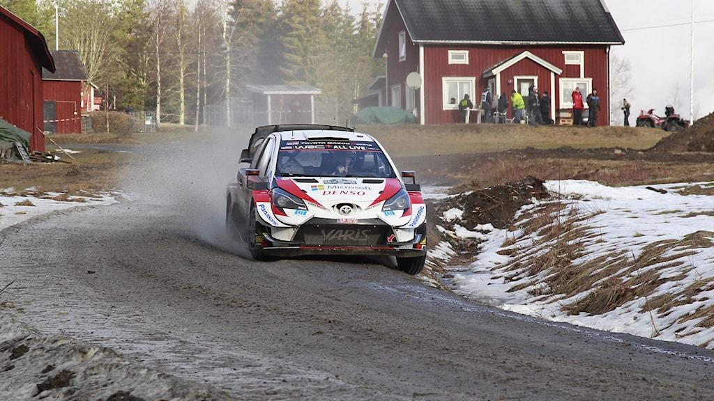 Elfyn Evans i svenska rallyt.