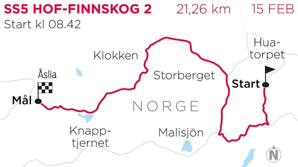 Svenska Rallyt 2020 SS5 Hof Finnskog 2. Grafik: TT