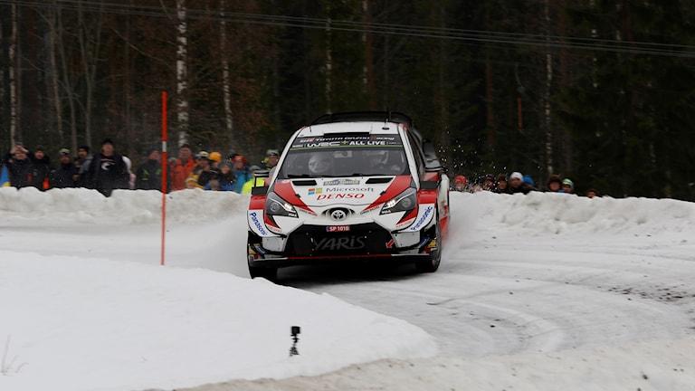Ott Tänak i Svenska rallyt.
