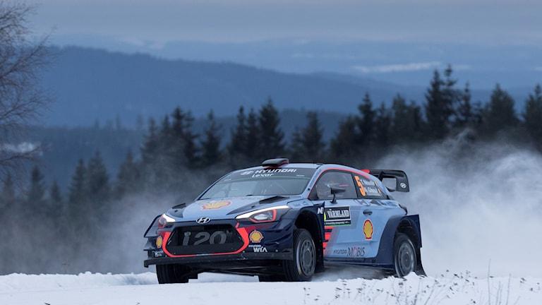 Thierry Neuville under SS2 Röjden, Svenska rallyt 2017. Foto: Micke Fransson/TT