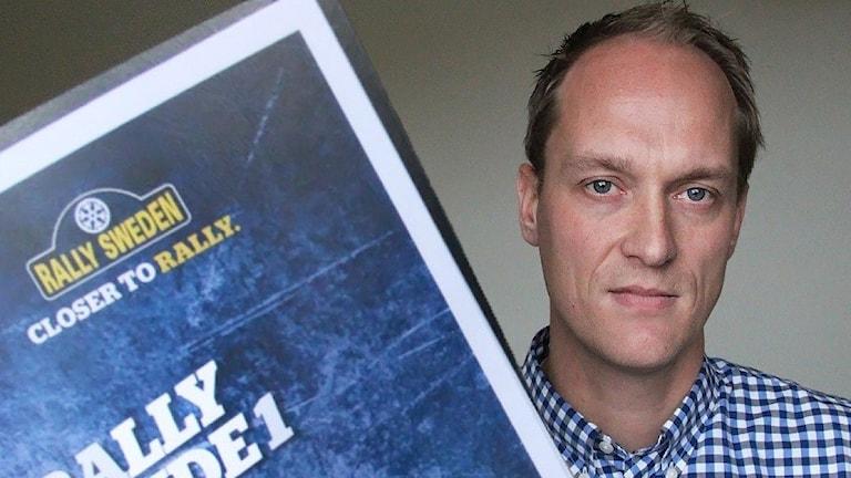 Glenn Olsson, vd för Svenska rallyt. Foto: Lars-Gunnar Olsson/Sveriges Radio.