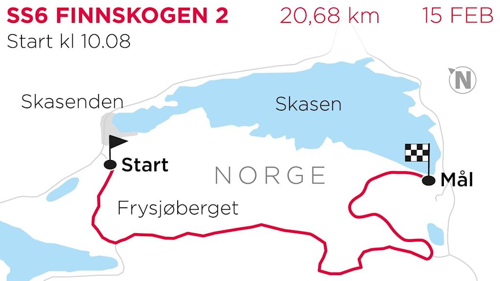 Svenska rallyt 2020 SS6 Finnskogen 2. Grafik: TT