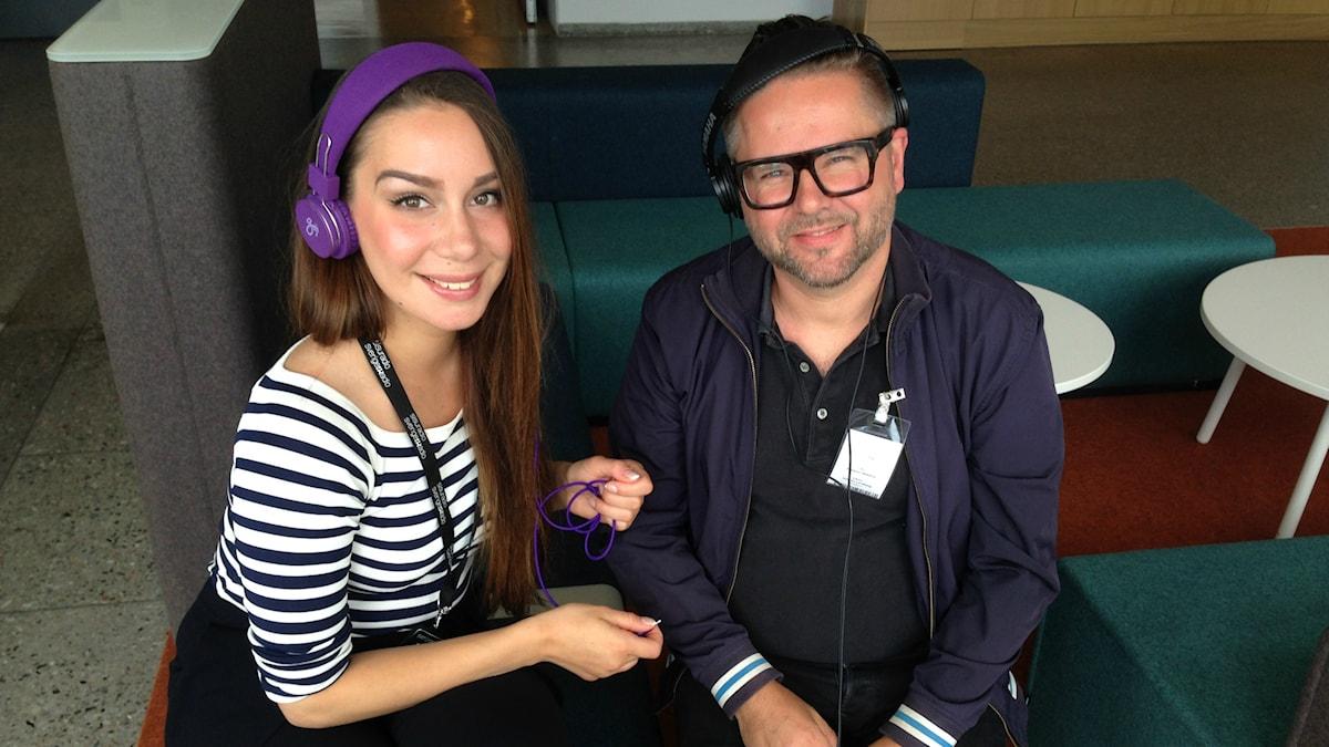 DJ musiikki juontaja Jasmin Lindberg ja Kristian Heikkilä