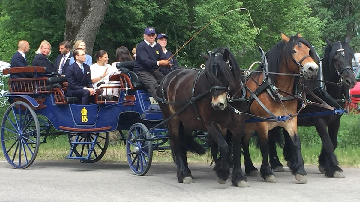 Kruununprinsessa Victoria ja prinssi Daniel Strömsholmissa Kansallispäivänä 6.6.2018.