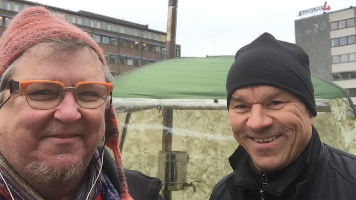 Erpo Hienolainen ja Jarmo Mäkinen Eskilstunassa