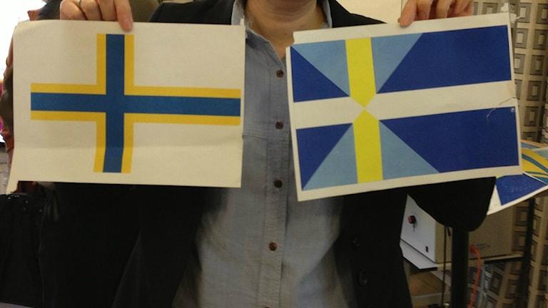 Virallisesta ruotsinsuomalaisten lipusta kamppailevat ehdokkaat. Kuva: Helena Huhta / Sveriges Radio Sisuradio