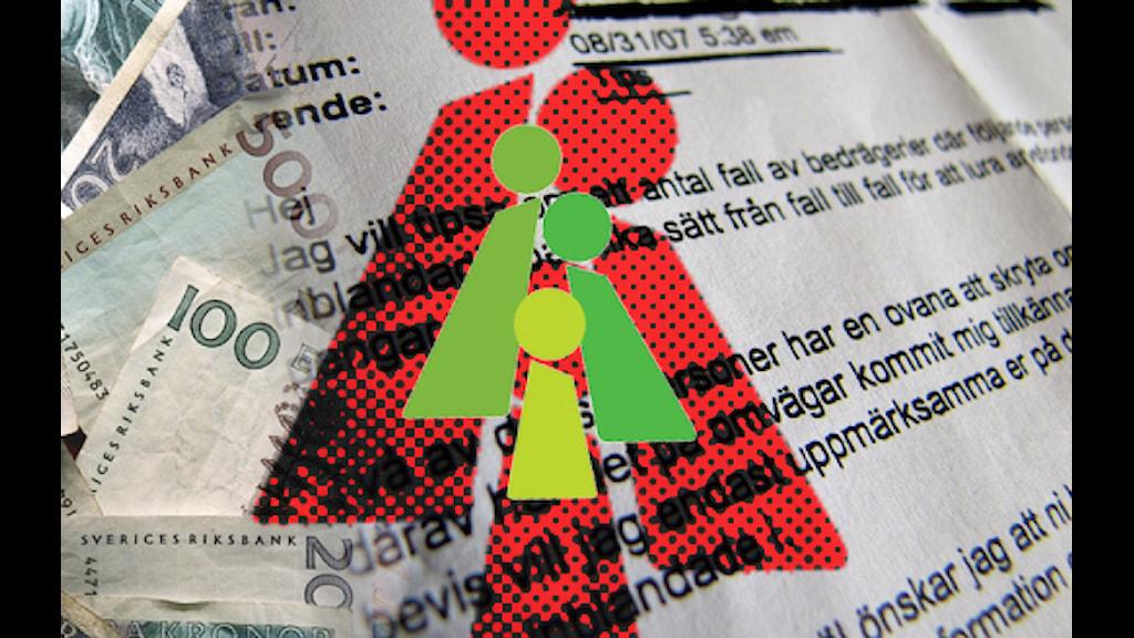 Allmäna arvsfonden. Bilden är ett montage. Foto: Scanpix/Kasper Nowakowski/SR/Allmäna arvsfondens logotyp.