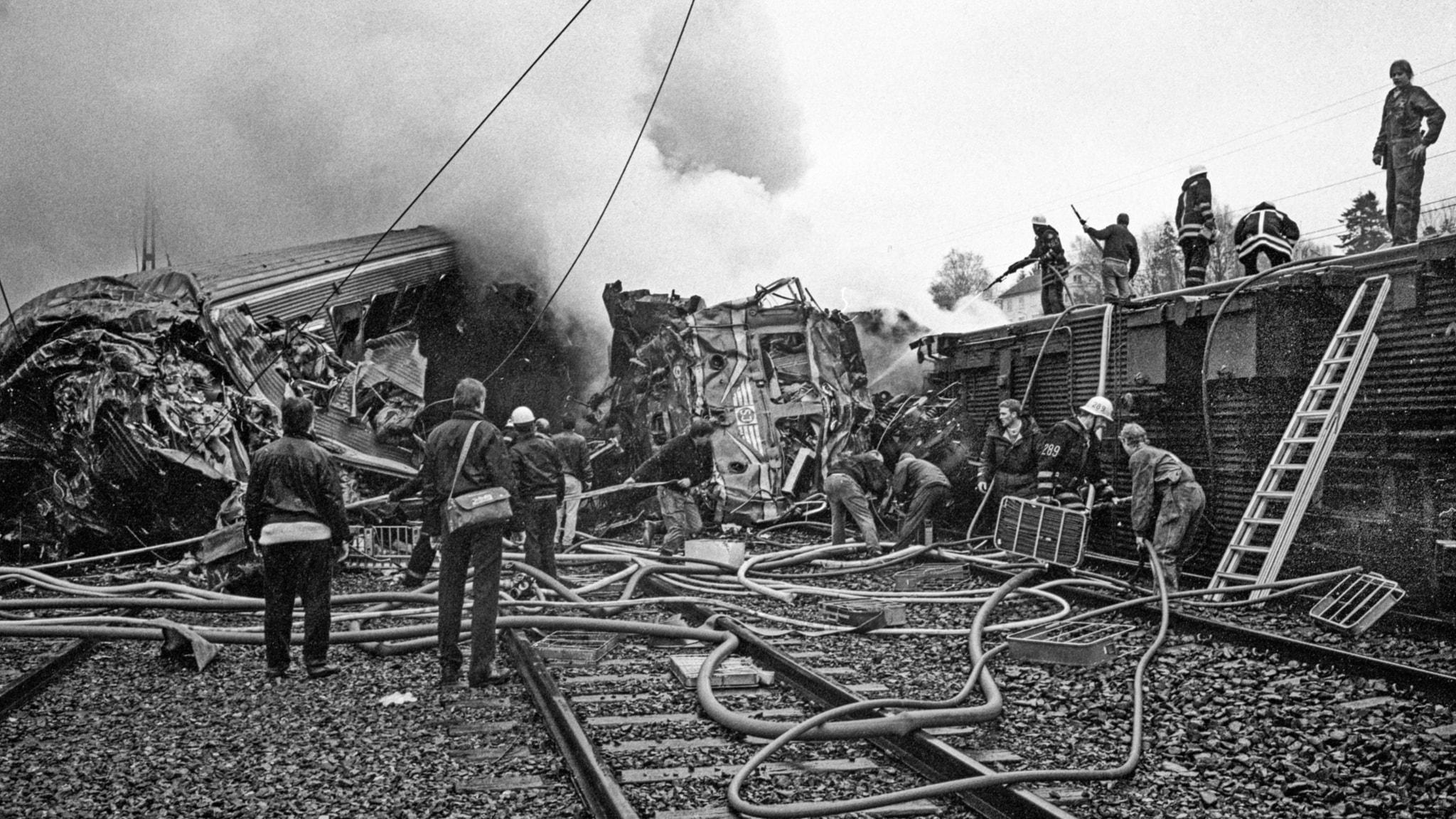 Bild från olycksplatsen. Foto: Ulf Ryd/Expressen/ TT.