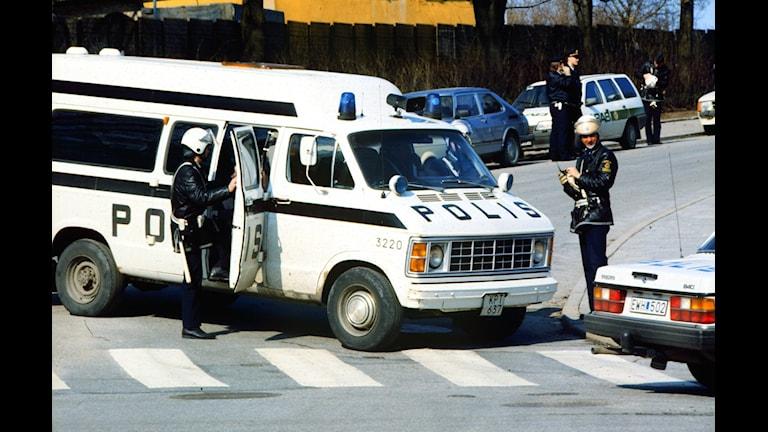 Polis, 1986. Foto: SVT BILD