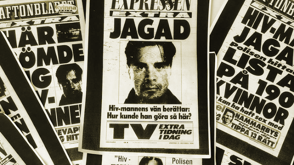 Jakten på Hiv-mannen. Foto: Montage/Sveriges Radio