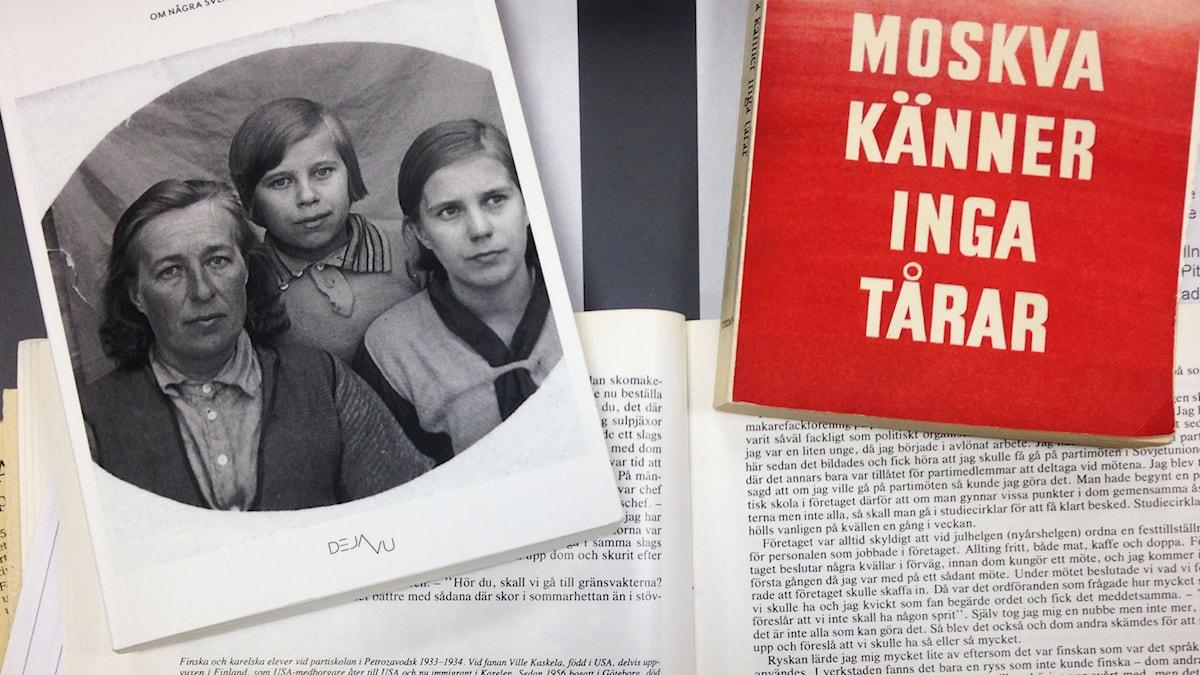Hilma Eriksson Kalla med sina döttrar, Astrid (till vänster) och Alice (till höger) Foto: Moa Larsson