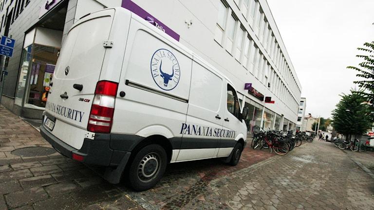 Panaxia var anlitat av Riksbanken för att transportera förvara kontanter. Foto: Nick Näslund / Sveriges Radio