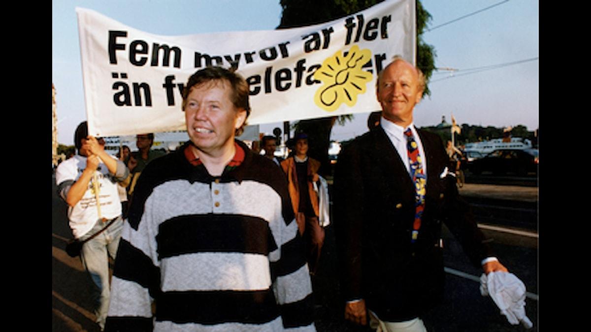 Bert Karlsson och Ian Wachtmeister. Foto: Hans T Dahlskog/SCANPIX