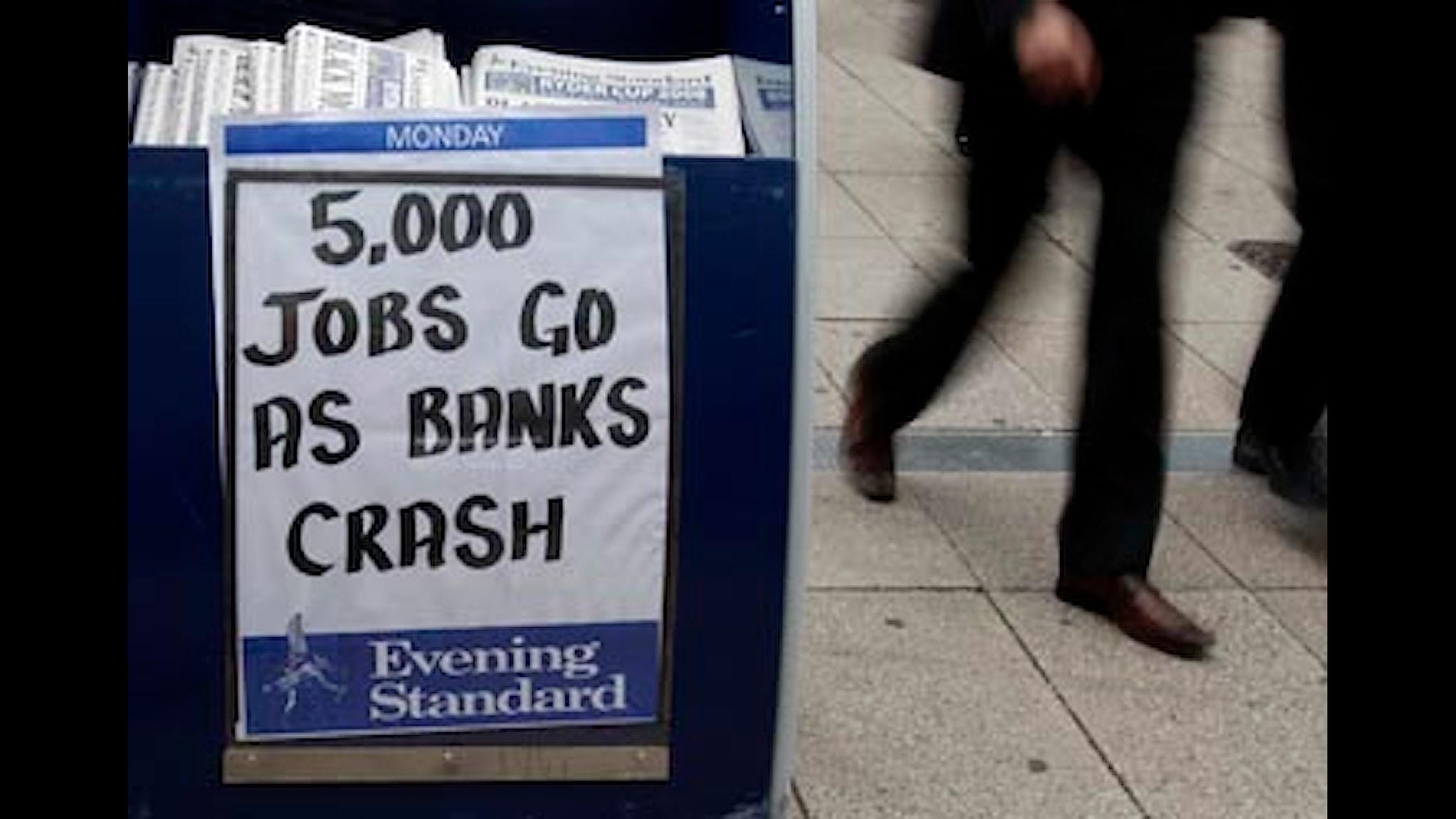 Ett år med finanskrisen. Foto: Kristy Wigglesworth/SCANPIX