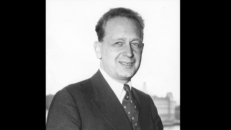 Dag Hammarskjöld 1953. Foto: SVT Bild
