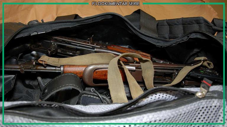 Vapenväska med vapen som användes vid dådet