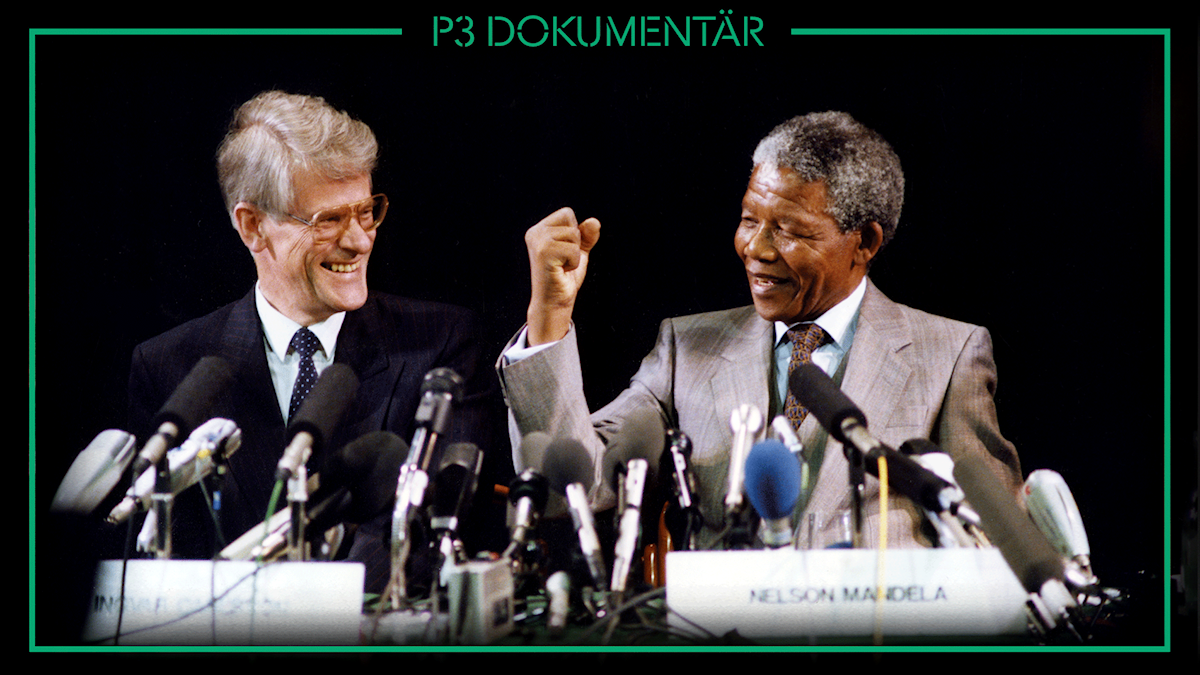 Ingvar Carlsson, Nelson Mandela. Foto: Gunnar Lundmark/TT