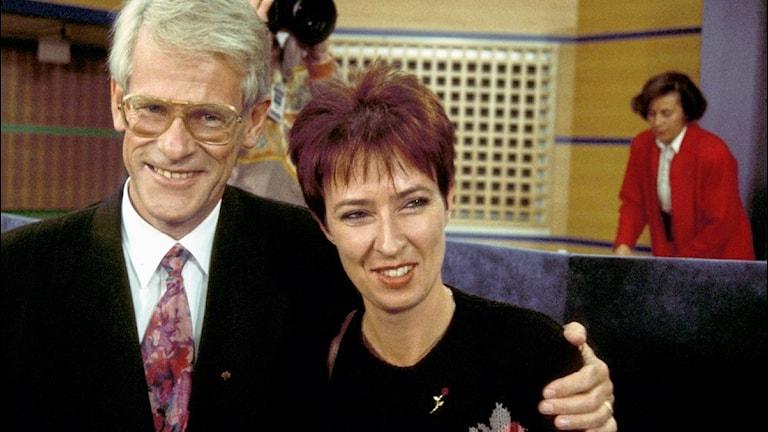 Ingvar Carlsson och Mona Sahlin 1991.