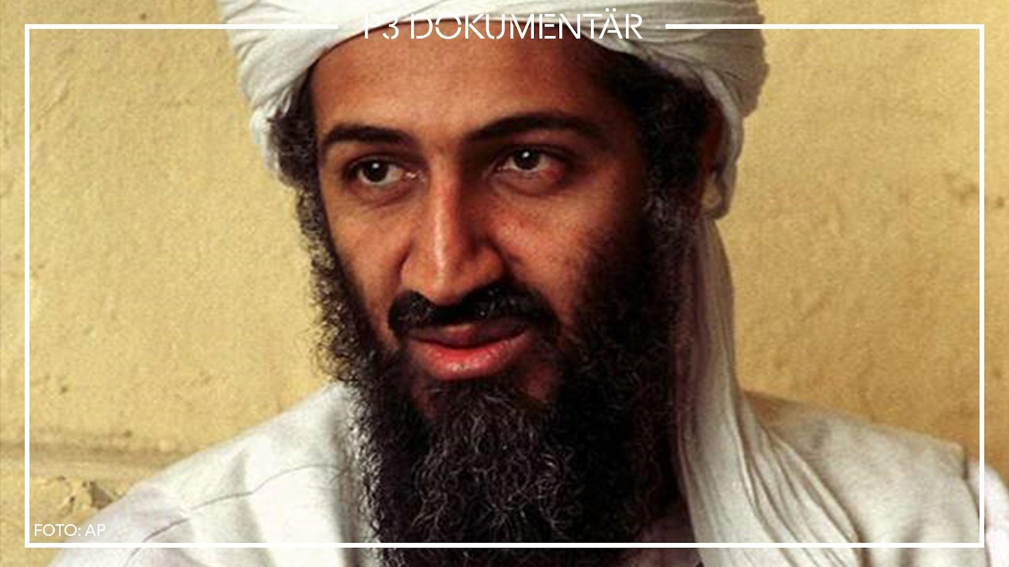 Porträttbild av Usama bin Ladin.