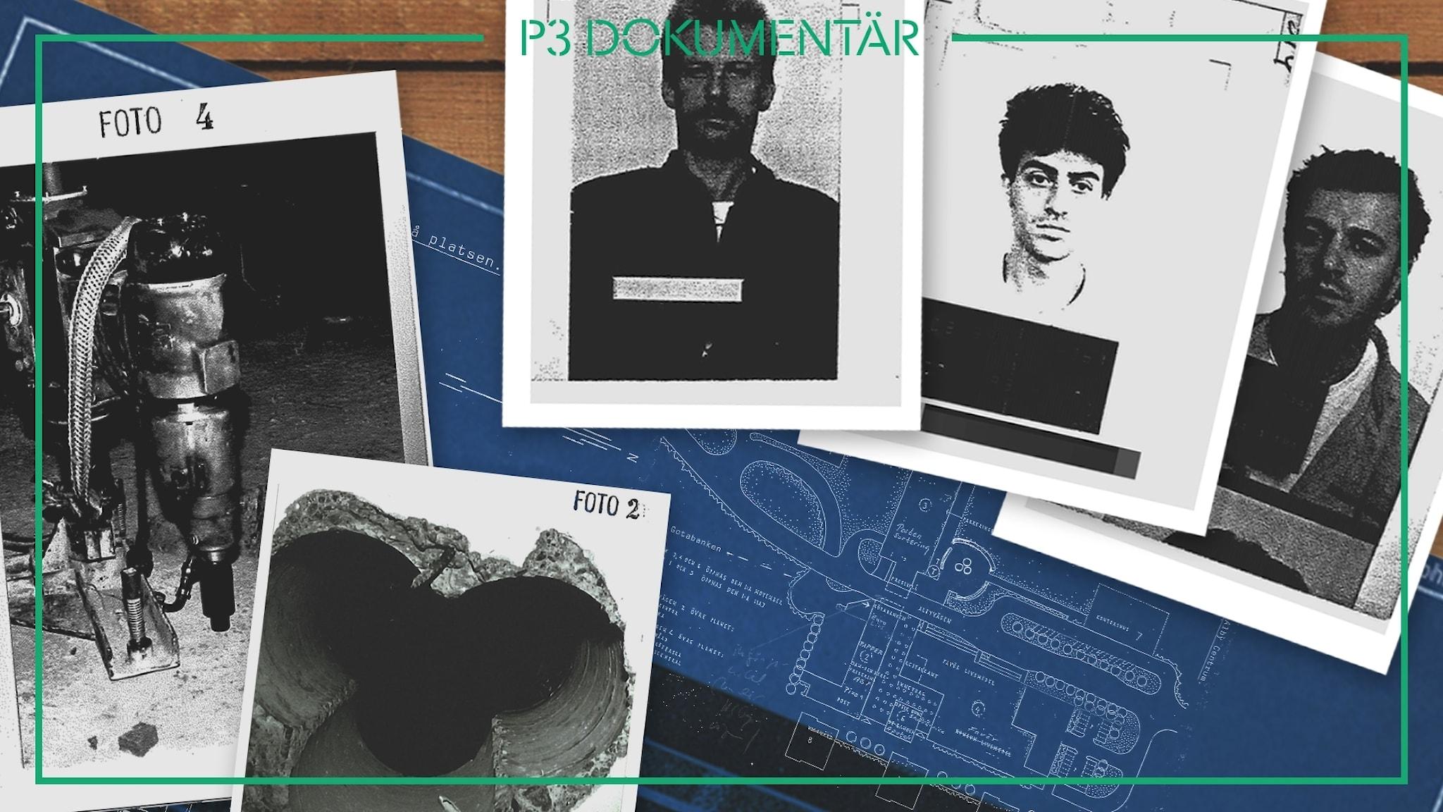 Bilder från förundersökningen, polisen.