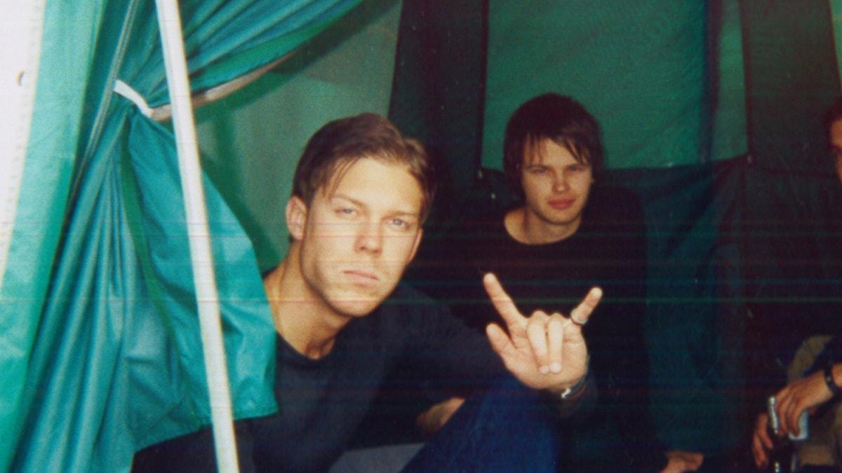 Patrick Alvarsson och hans bästa kompis Carl Johan Gustafsson, som omkom under Roskildefestivalen.