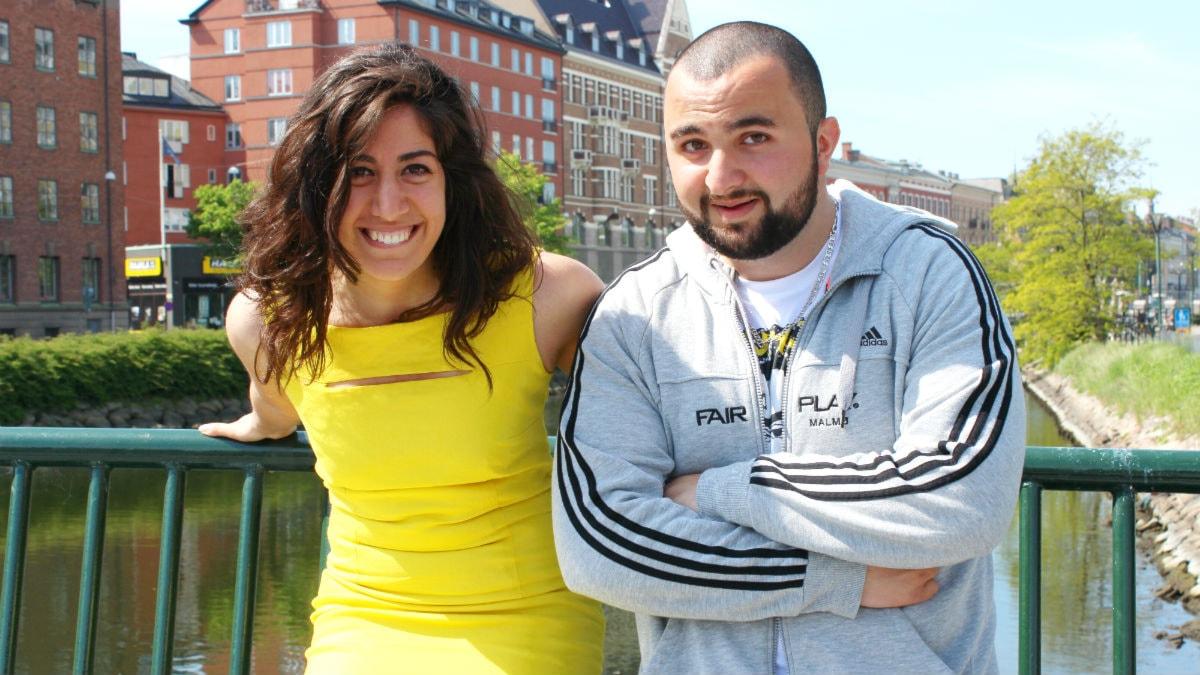 Suzan och Hamza leder God Morgonshowen tillsammans. Foto: Stephanie Londéz/SR