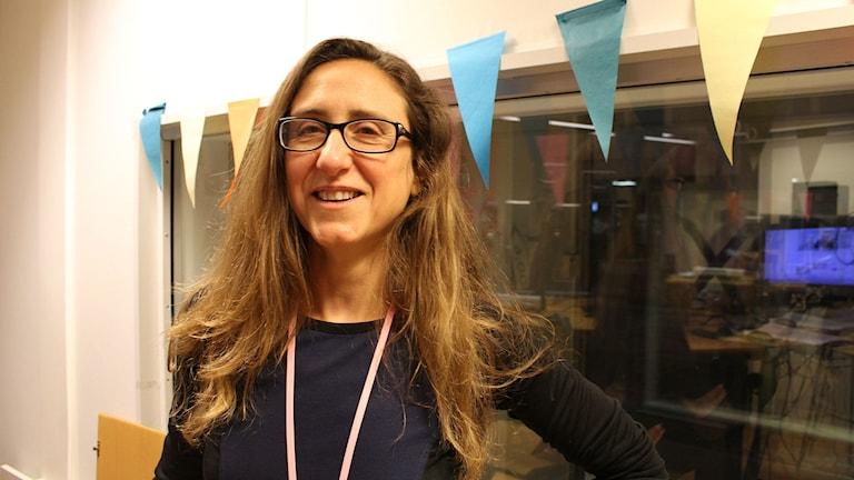 Paula Bustos Castro projektledare för ARF. Foto: Mona Hadad/SR