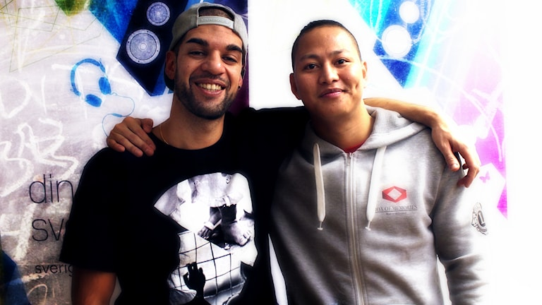Isaac Vasquez och Jaybee. Foto: Suzan Alev Arslan/SR