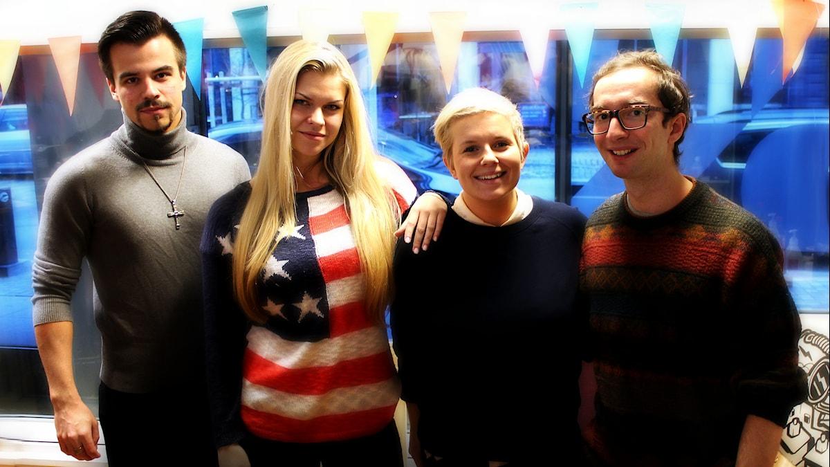 Benjamin Trollblad, Kasia Gorzka, Lisa Boethius och Marcel Roman. Foto: Stephanie Londéz/SR