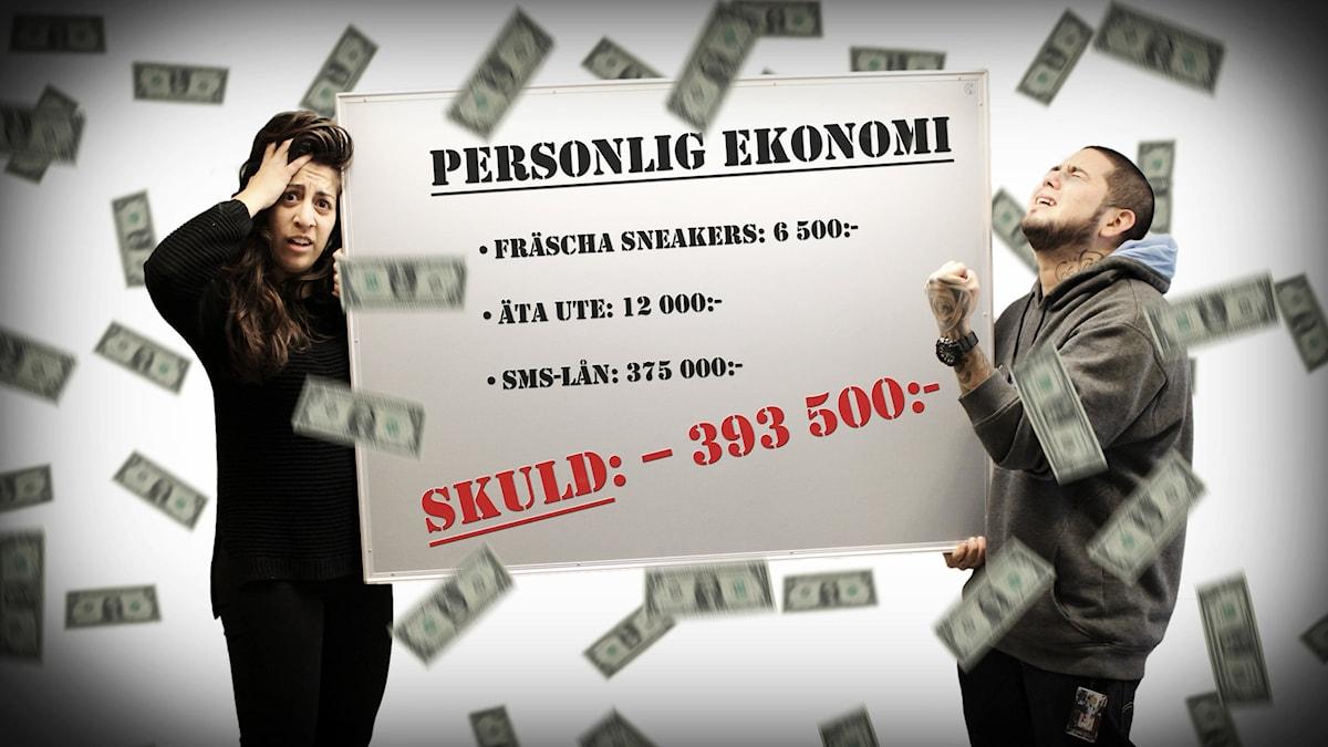 Suzi och Juan försöker reda ut sina skuldproblem. Foto: Flickr/rycklepoziky.com/CC BY 2.0/Gustaf Widegård/SR