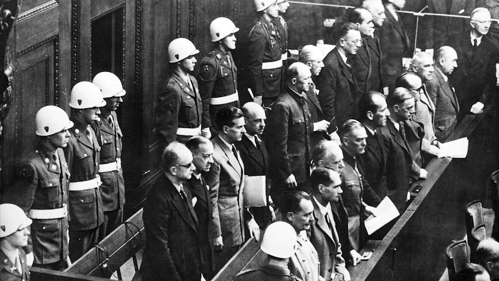 Nürnbergrättegången 1945. Foto:APN/ TT