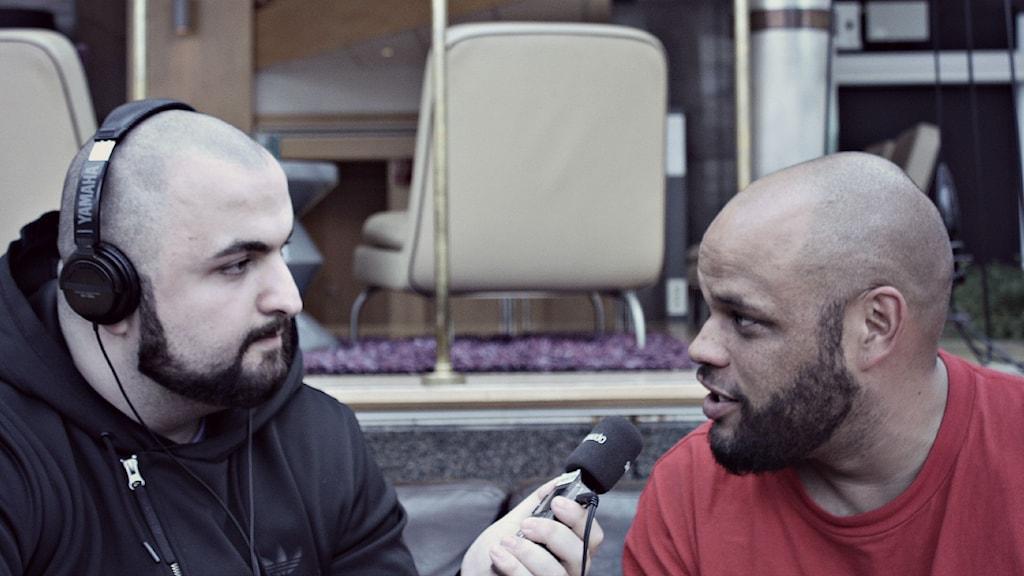 Hamza träffade Ken Ring. Bild: Mustafa Hussein