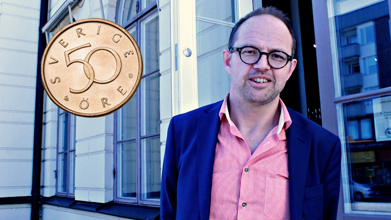Bildkollage på Fredrik Andersson och 50-öring