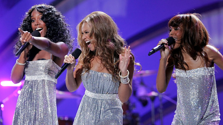 Destiny's Childs nya låt med 99 Souls börjar spelas på P3 Din Gata. Foto: Mark J. Terrill/TT