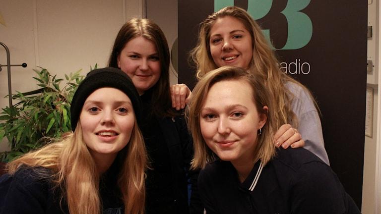 Anni Tjebbes, Thelma Ernst, Agnes Gertten och Isabelle Giordano. Foto: Emma Leyman/SR