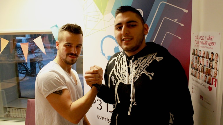 Benjamin Elane och Haidar Danial Faraj