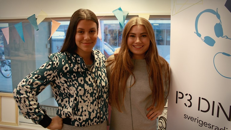 Isa Galvan och Linnea Holst i P3 Din Gatas studio