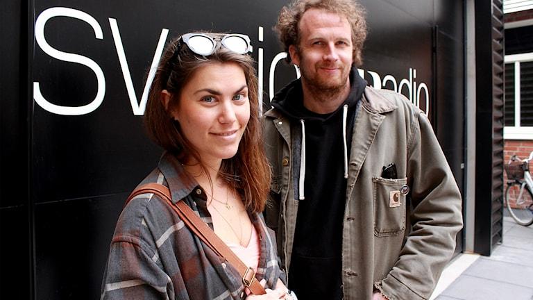 Bild på  Vanessa Marko och Jakob Grandin som är personerna bakom Night Mayor.