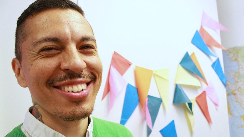 Marco Vega i P3 Din Gata studion
