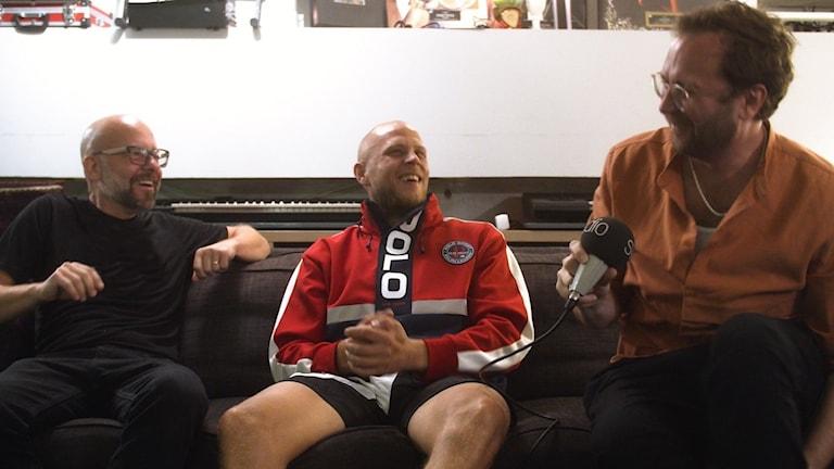 "Patrik Collén, Mwuana och Jens ""Chords"" Resch."