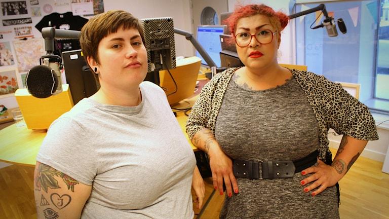 Fettaktivisterna Annika Salvador och Zarah Ohlsson