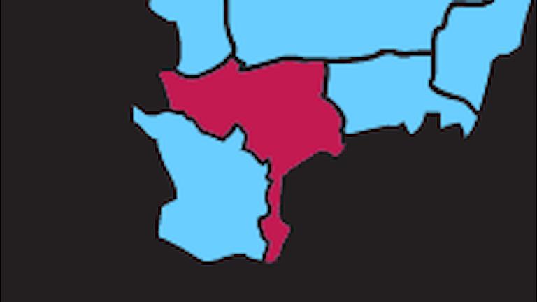 Karta P4 Kristianstad