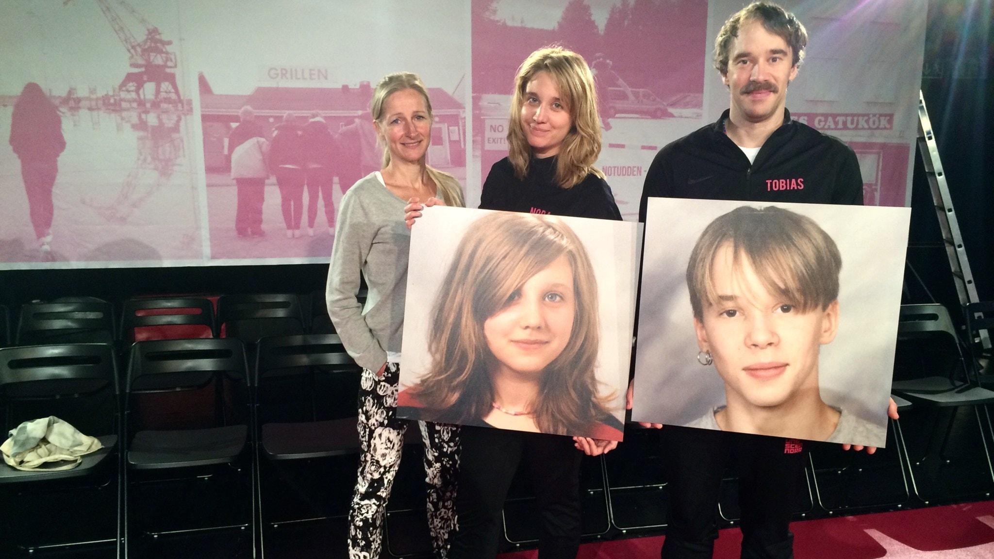 Mervi Jaako ja skoodikset Nora Bredefelt ja Tobias Sondén