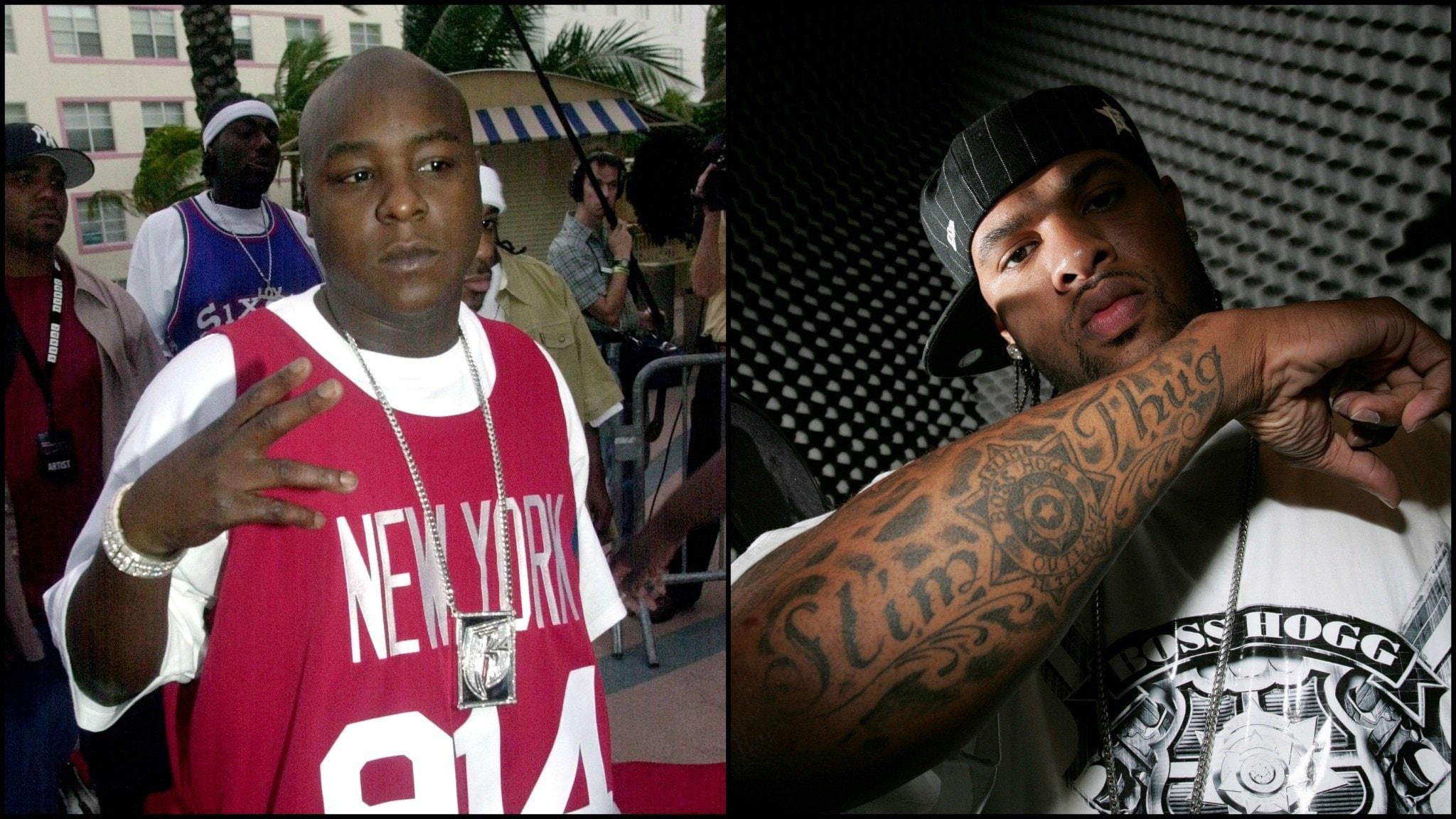 Jadakiss och Slim Thug. Foto: TT/DAVID J. PHILLIP/MARTA LAVANDIER
