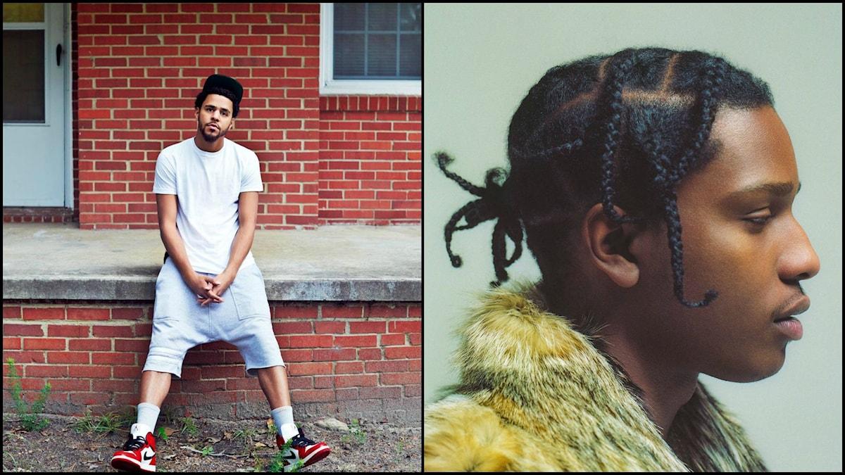 Bildkollage på J Cole och ASAP Rocky. Bild: Pressbilder