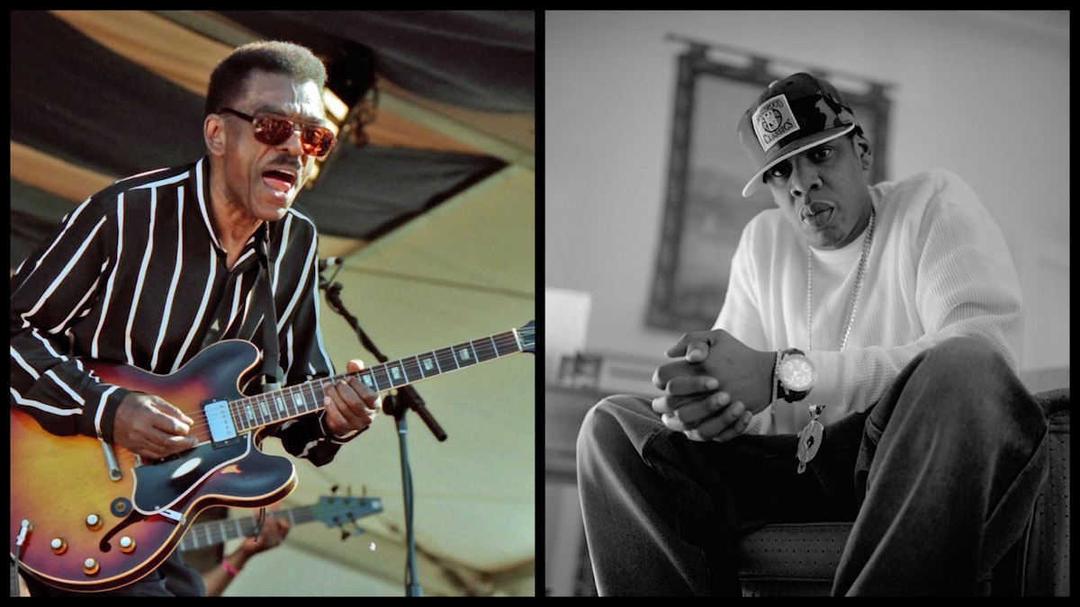 Bildkollage på Syl Johnson och Jay Z