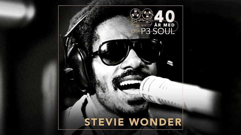 Bild på Steve Wonder på 70-talet.