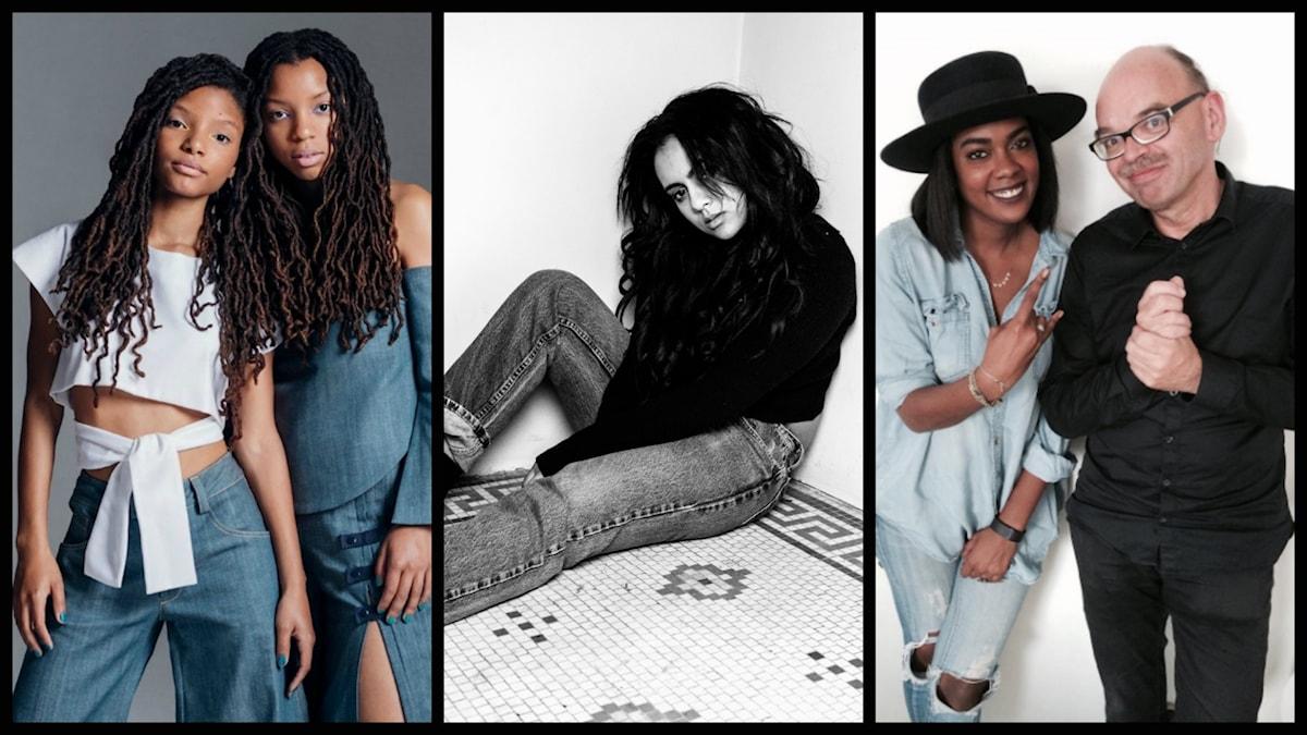 Bildkollage på Chloe X Halle, Bibi Bourelly,och Ingrid med Mats Nileskär.