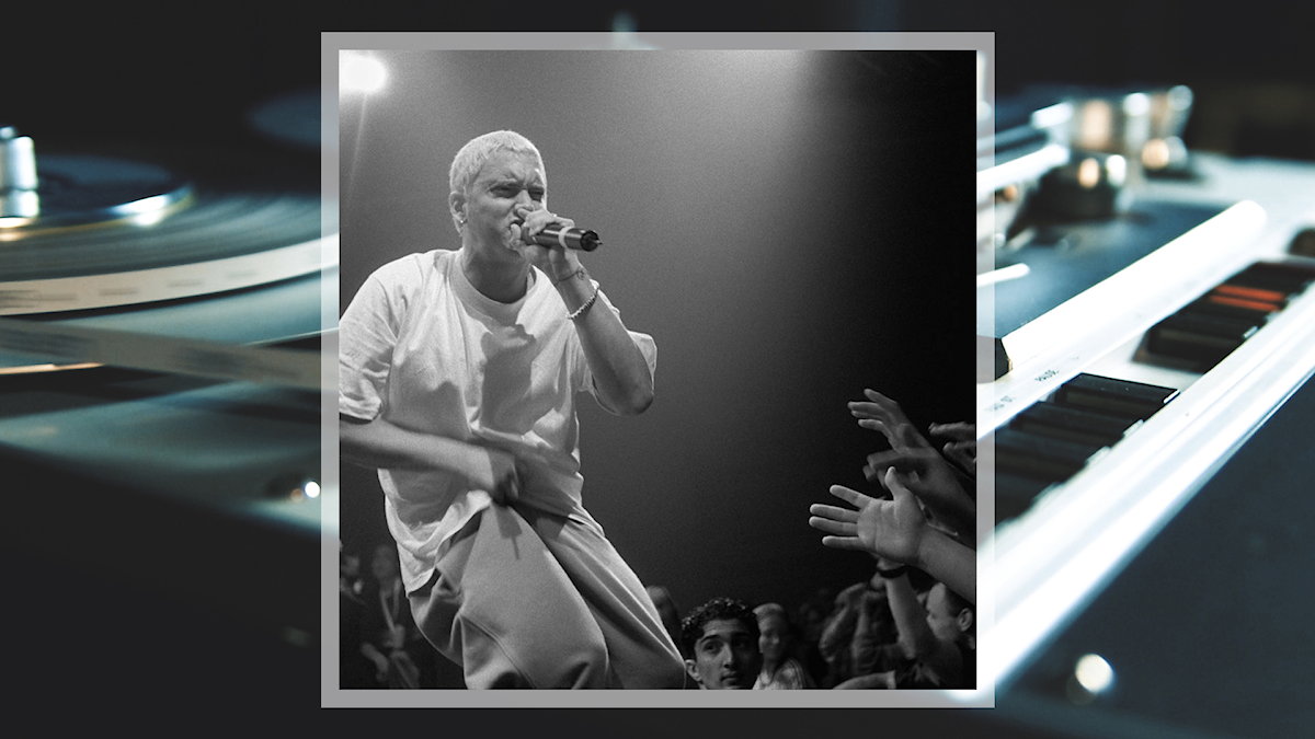 Rapparen Eminem på scen