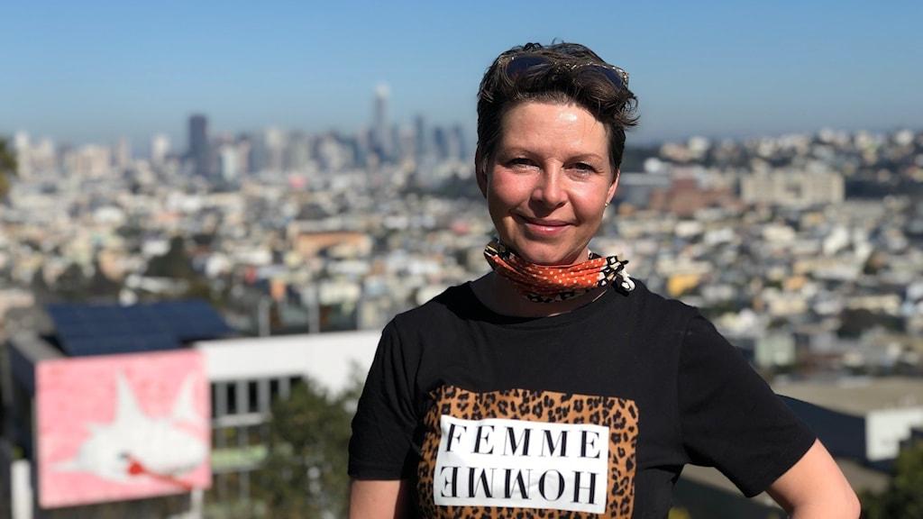 Maria Svemark framför San Fransisco